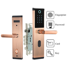 전자 보안 생체 인식 센서 지문 도어 잠금 디지털 키없는 조합 스마트 홈을위한 passowrd 코드 도어 잠금 장치