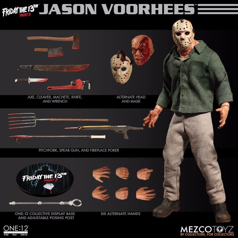 Mezco Toyz 77160 Freitag Die 13th Teil 3 Jason Voorhees 1/12 Action Figur-in Action & Spielfiguren aus Spielzeug und Hobbys bei  Gruppe 1