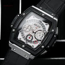 BAOGELA Reloj de pulsera para hombre, de cuarzo, con correa de cuero