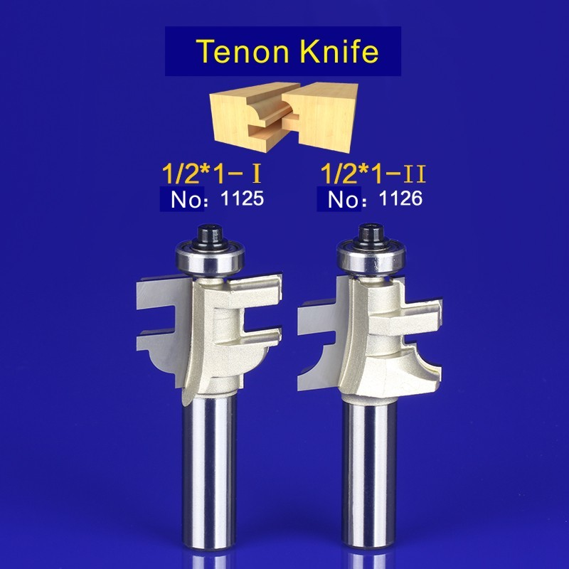 2Pcs Tongue & Groove Router Bit Set 1/2 Inch Shank tenon knife woodworking  1125-1126 2pcs tongue