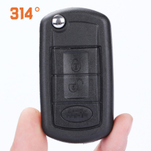 3 Button Black Car Folding Key Remote Control Replacement Shell With Embryo Suit For Land Rover Accessories