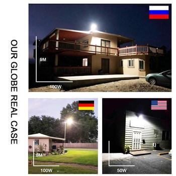 Garantía 5 Años De Luz De Calle Led Para Pared Exterior IP65 30W 50W 100W Lámpara 180-260Vac Industrial Jardín Cuadrado Carretera Farola Road