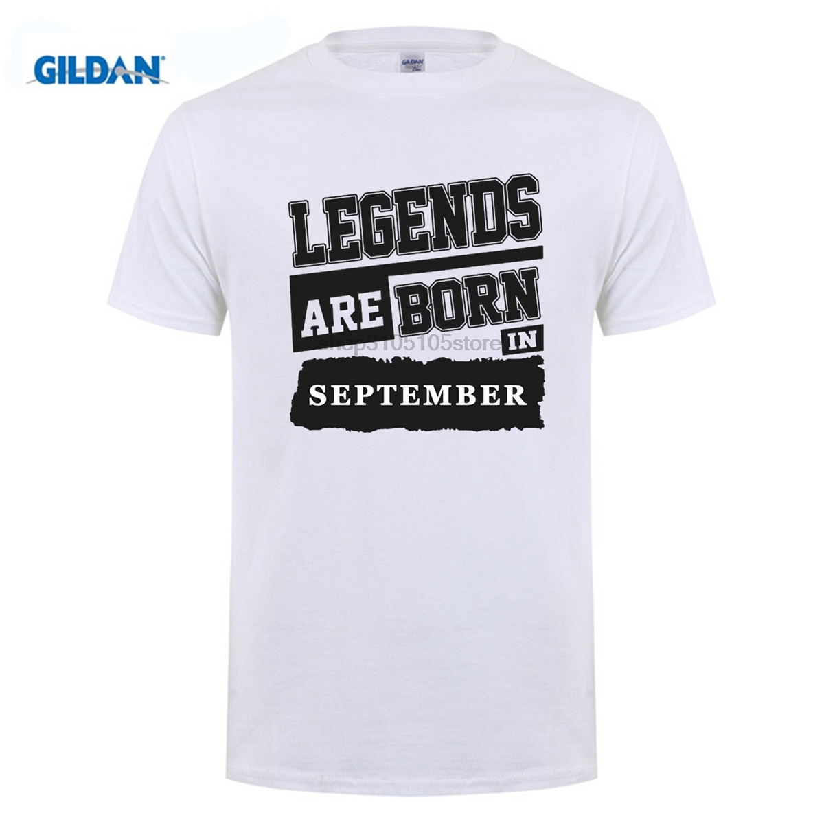 GILDAN Customize Tee Shirts Men Birthday Legends Are Born In September Crew Neck Hipster DIY Ideas T From Mens Clothing On Aliexpress