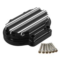 CNC Edge Deep Cut Motorcycle Black Transmission Side Cable Clutch Cover Case For Harley Davidson 2004