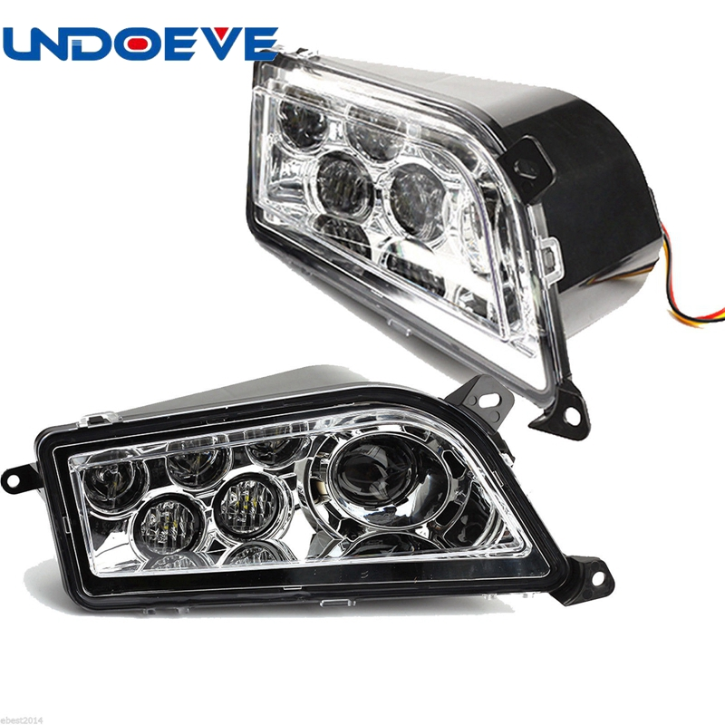 Undoeve 2PCS LED Headlight Hi/Lo for Polaris RZR XP 1000 4 & RZR 900 S 2014-2017
