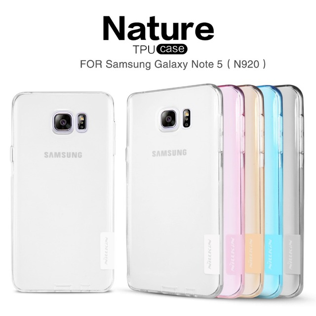 NILLKIN Ultra Thin Transparent Nature TPU Case For Samsung Galaxy Note 5 N920 Note5 , S Line Clear TPU Hard Soft Back cover