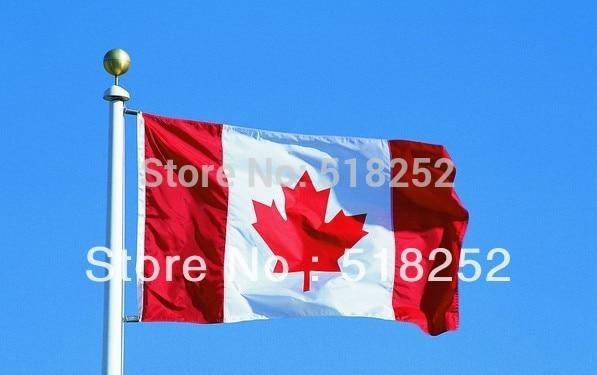 150X90 CM Canada Drapeau 3x5ft Canada Pays drapeau drapeau National ...