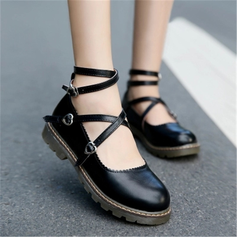 Chaussures Bas Liens Dame Plate 1 2 Lolita Princesse Talons Femmes 3 Petites forme 1ZwHn5wqA