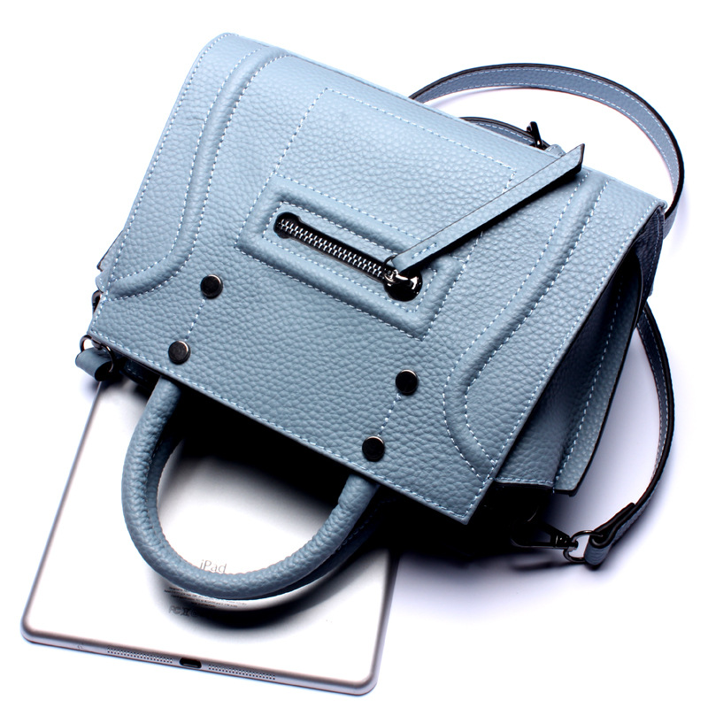 brand design genuine leather shoulder bag female fashion top leather pattern leather