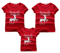 Madre y niños Camiseta 2016 de La Familia Juego Trajes niños ropa del bebé de los niños de algodón de manga corta cómoda