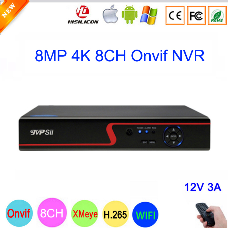 Red Panel Hi3536C XMeye Audio 8CH*4K/32CH*5MP Surveillance Video Recorder 8MP 4K 8CH 8 Channel H.265 IP Onvif WIFI CCTV NVR