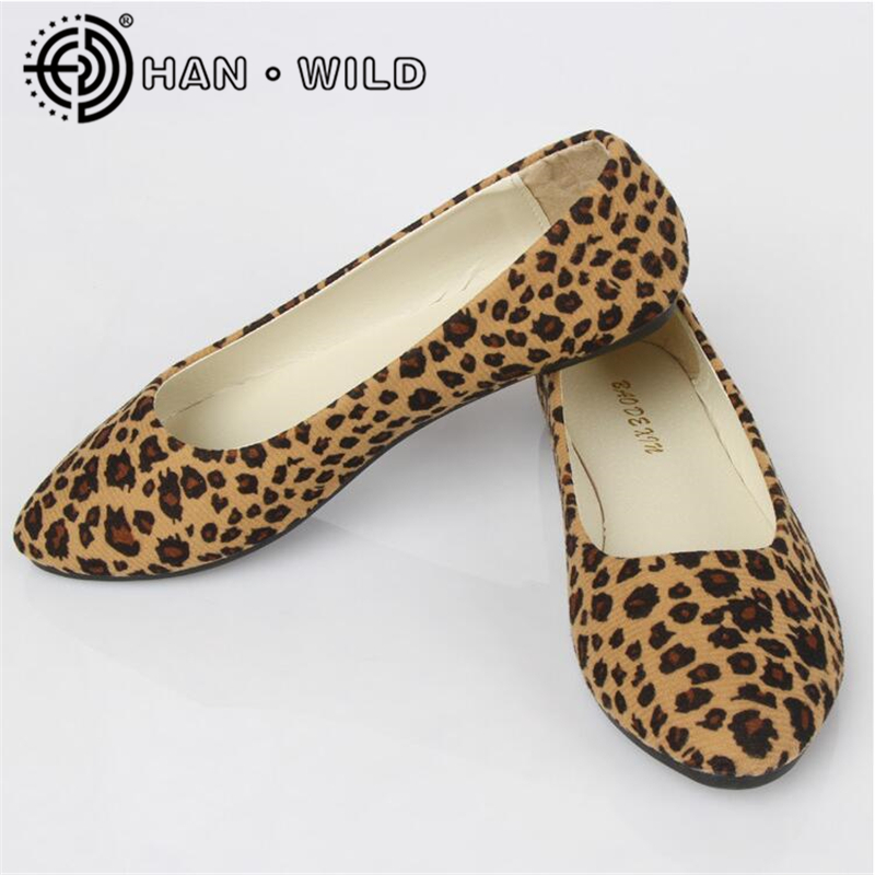 2019 New Spring Shoes Women Flats Ladies Leopard Flat Shoes European Style Loafers Round Toe Casual Shoes Plus Size 35-43