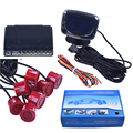 Lcd carro Sensor De Estacionamento LCD 8 Sensores de Estacionamento Reverso Backup Kit Sistema de Detector De Radar Do Carro Para Todo O Carro