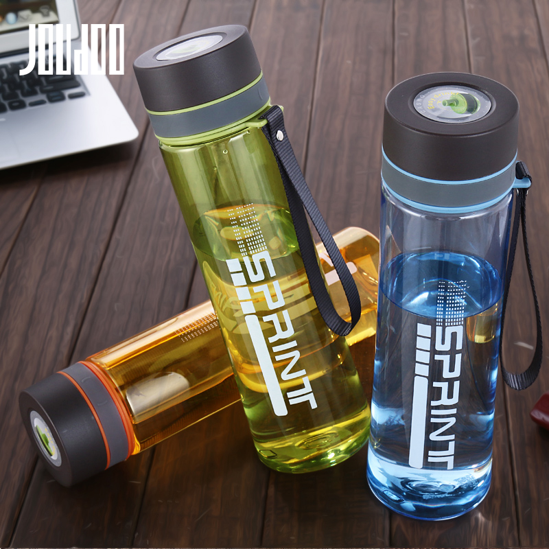 JOUDOO Large Capacity 630ML/800ML/1000ML Plastic Water Bottle With Rope Portable Outdoor Space Camping Travel 35