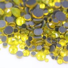 Bright color SS6-SS30 Mix Size Crystal Hot Fix Rhinestones Glue back Flatback Glass Crystal DMC Hotfix Rhinestones free shipping цены