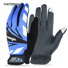 Full Finger Men Women Cycling Gloves Touch Screen Bicycle Sport Shockproof Outdoor Black Summer Gloves Luvas bisiklet Mittens