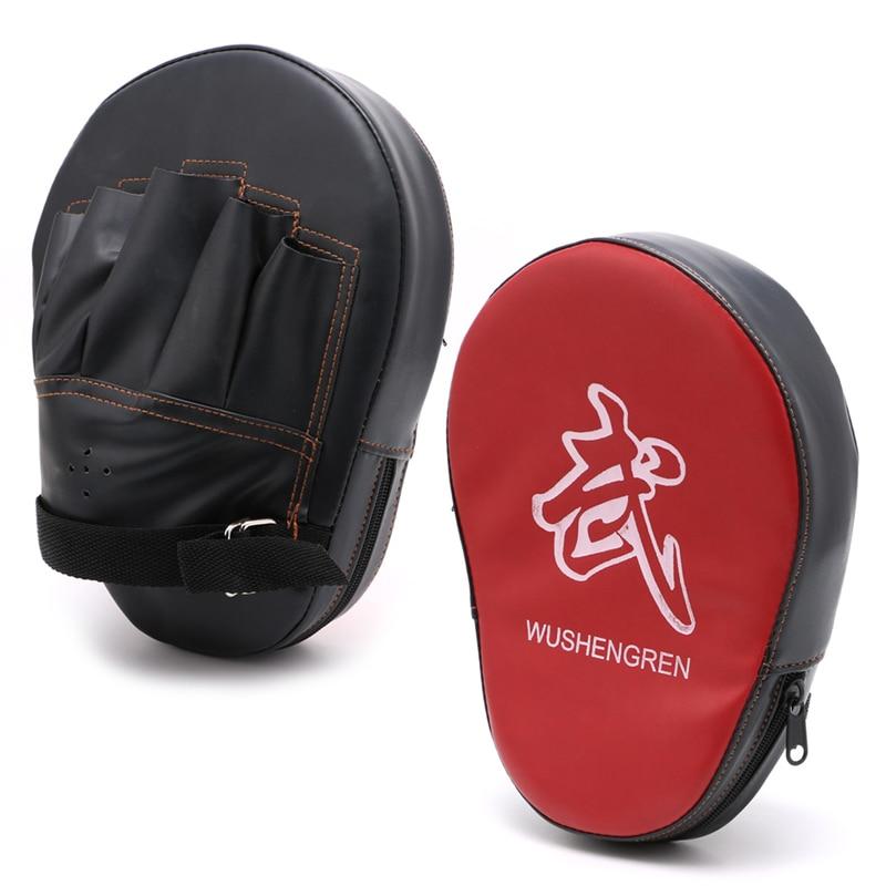 Boxing Mitt Training Focus Target Punches Pad Glove For MMA Karate Combat Thai Kick