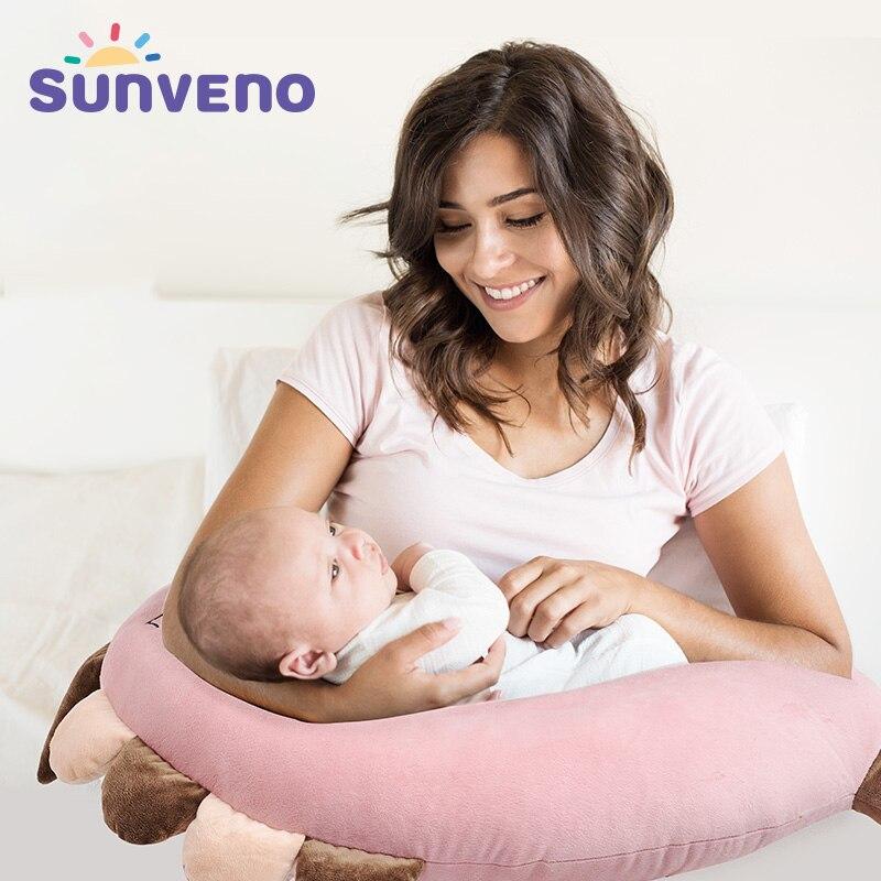 купить SUNVENO Breastfeeding Pillow Infant Nursing Pillow Maternity Baby Breastfeeding Pillow Feeding Waist Cushion For Nursing по цене 2932.73 рублей
