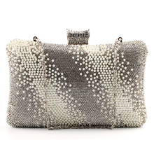 Frauen dame multicolor perle Acryl luxus handtasche Tag Clutch abendtasche für party clutch