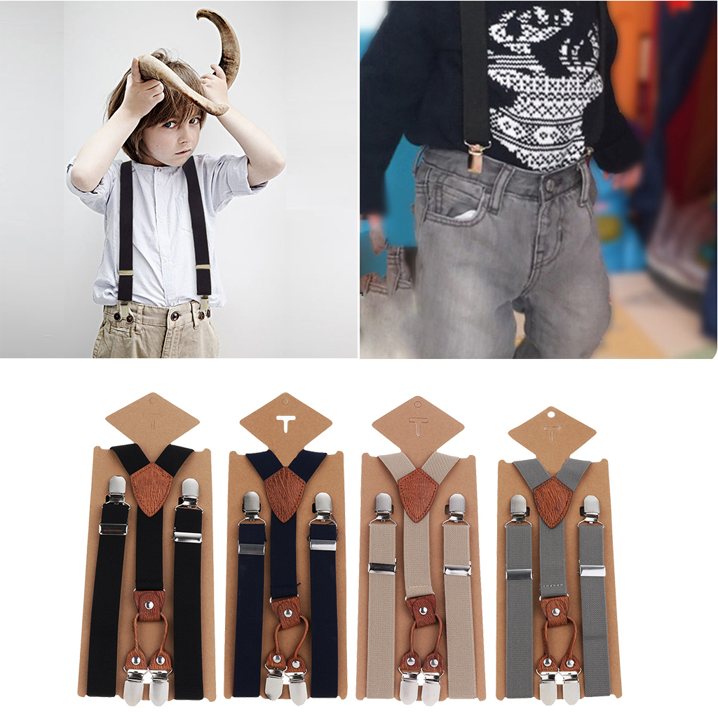 Cute Baby Boys Girl Clip On Suspender Y Back Child Kid Elastic Braces Gift Cloth Accessory For Dress Trousers Jeans Shorts Pants