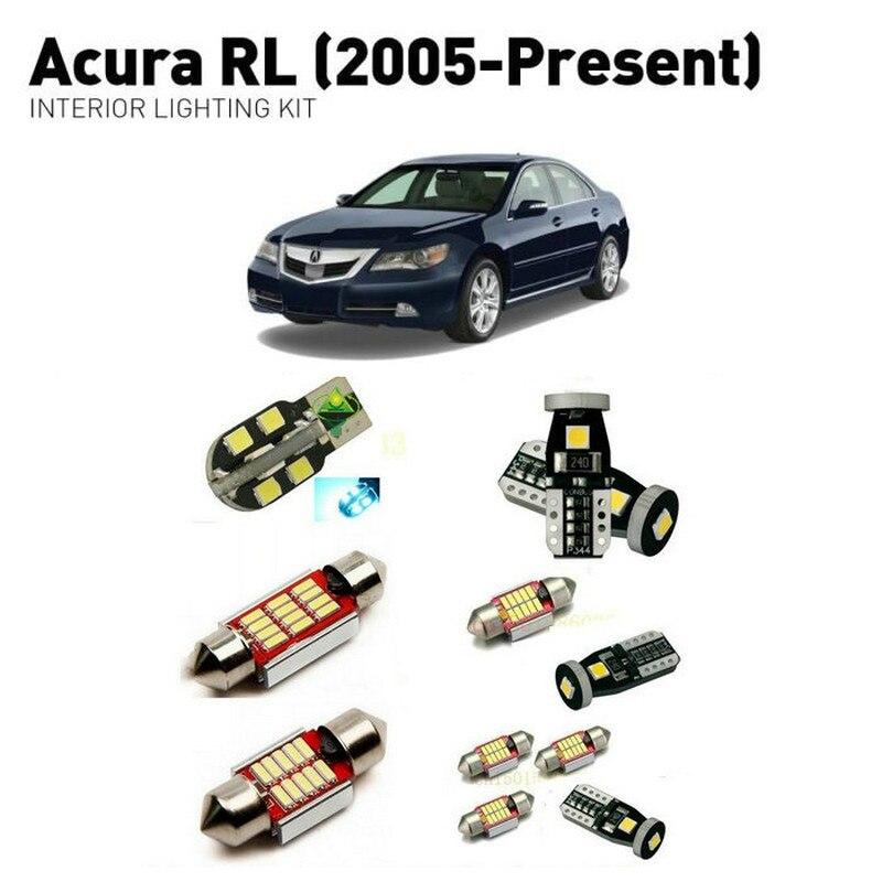 Led interior lights For Acura RL 2005+  14pc Lights Cars lighting kit automotive bulbs Canbus