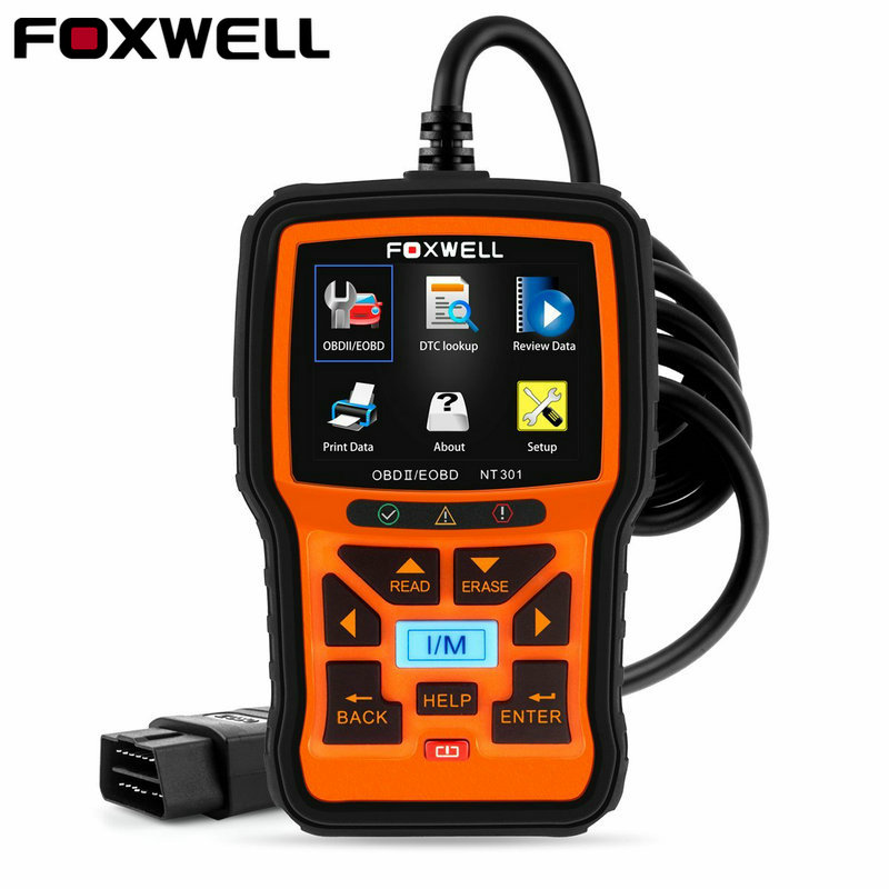 Foxwell NT301 OBD OBD2 Engine Universal Car Code Reader Diagnostic Tool Multi-languages OBD 2 Scan Tool odb 2 Automotive Scanner xtool ps100 obd2 car code reader trouble code reader