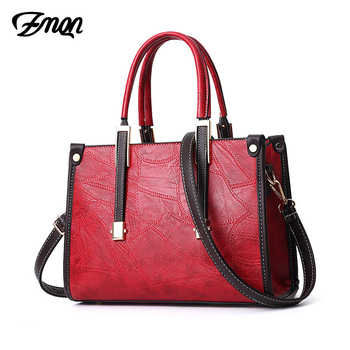 ZMQN Women's Tote Hand Bags 2019 Female Crossbody Luxury PU Leather Red Flap Bolsa Famous