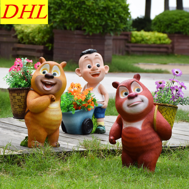 Cute Simulation Bear Animals Boonie Bears Crafts Continental Home Villa District Decorations Collectible Model Toy L1973 cute simulation bear animals boonie bears crafts continental home villa district decorations collectible model toy l1973