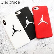 Clespruce Fashion flyman Michael Jordan PC case for Apple iphone X 8 6 6s 7 plus
