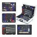 WORKPRO 119 PC Алюминиевый набор инструментов бытовой набор инструментов ручная отвертка набор ключей плоскогубцы
