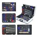WORKPRO 119PC Aluminium Tool box Set Huishoudelijke Tool Set Handgereedschap Schroevendraaier Set Sleutels Tangen