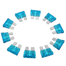 Mayitr 10pcs/lot 15A Car Fuse Blue Color Coded Standard ATO ATC Blade Fuse for Auto Car Truck PC + Zn Alloy Material стоимость