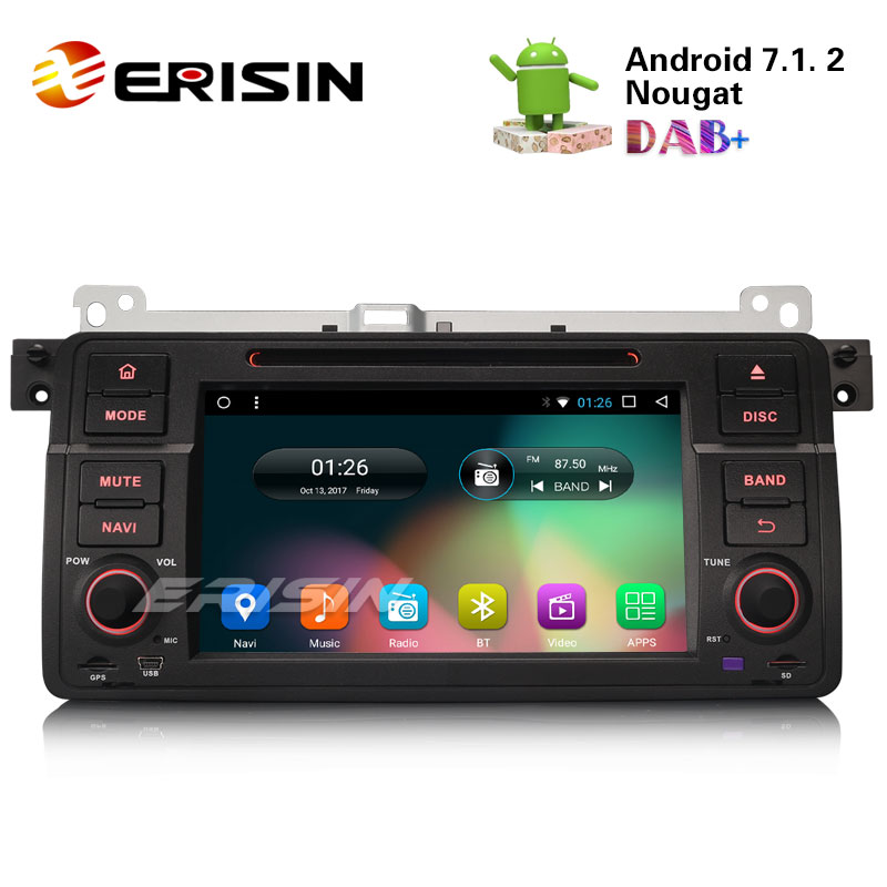 erisin es5485b 7 hd 8 core android 7 1 car stereo gps. Black Bedroom Furniture Sets. Home Design Ideas
