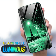 Luminous Phone Cases For XiaoMi Mi 9 SE 8 Lite A2 PLAY Space Night Shine Glass Case Redmi 5plus Note 7 pro 5 Cover Shell