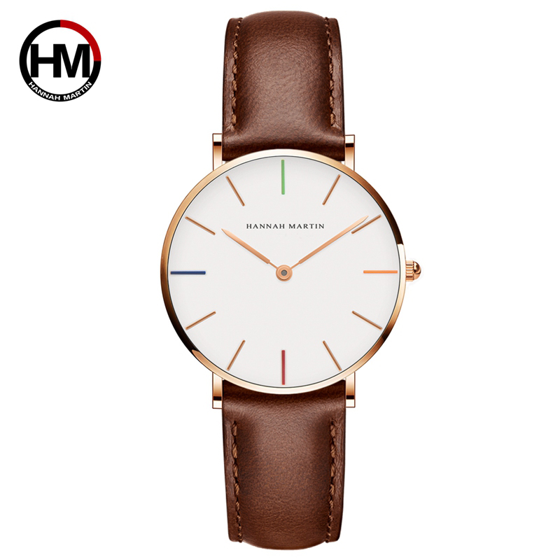Ladies Wristwatches Japan Quartz Top Luxury Brand Simple Women Leather Watches Female Clock For Young Girl Xfcs Relogio Feminino