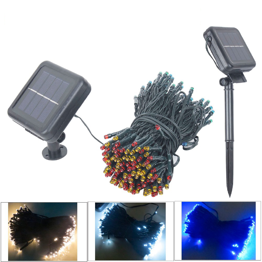 200 led solar fairy lights Christmas garland solar string lights outdoor garden party wedding curtain birthday decoration