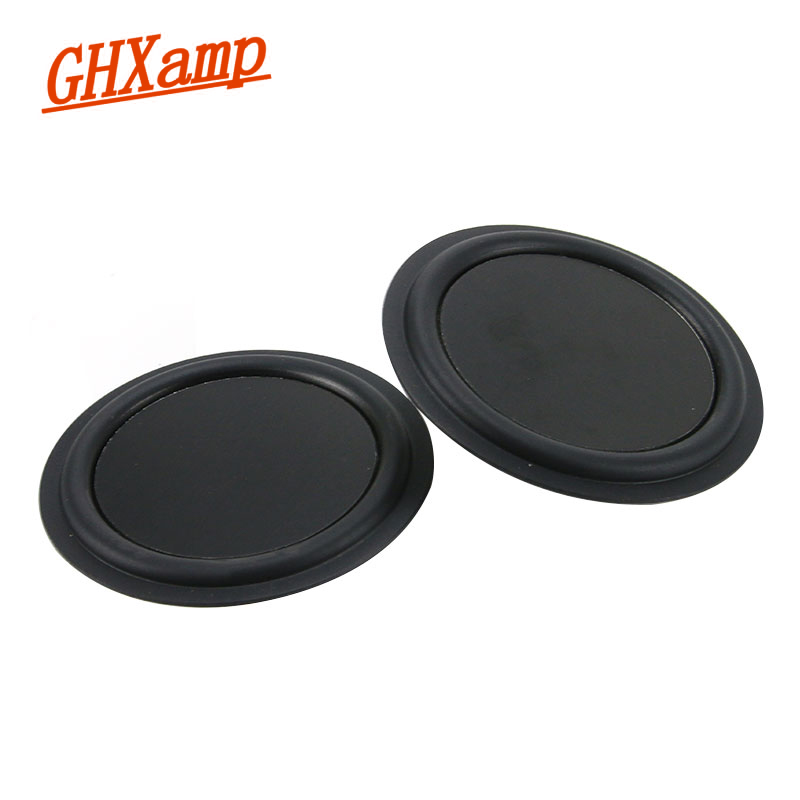 GHXAPM 3.5 inch 85MM Low Frequency Bass Radiator Vibration Plate DIY Bass Passive Auxiliary For Bluetooth Speaker DIY 2PCS vibration of orthotropic rectangular plate