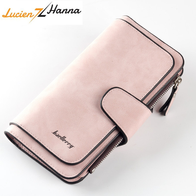 06f621a2692c3 US $9.47 51% OFF|New Slim Wallet Scrub Leather Women Wallets Female Card  Holder Long Lady Clutch Coin Purse portefeuille femme Carteira Feminina-in  ...