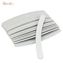 50pcs Gray Curved Buffers Nail Art Tools 100/180 UV Gel Polishing Grinding Professional File Sandpaper Manicure Set