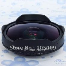 37 mm 0.3X Ultra ojo de pez lente de ojo de pescado para 37 mm 0.3 videocámaras DV Sony HXR-MC1500C