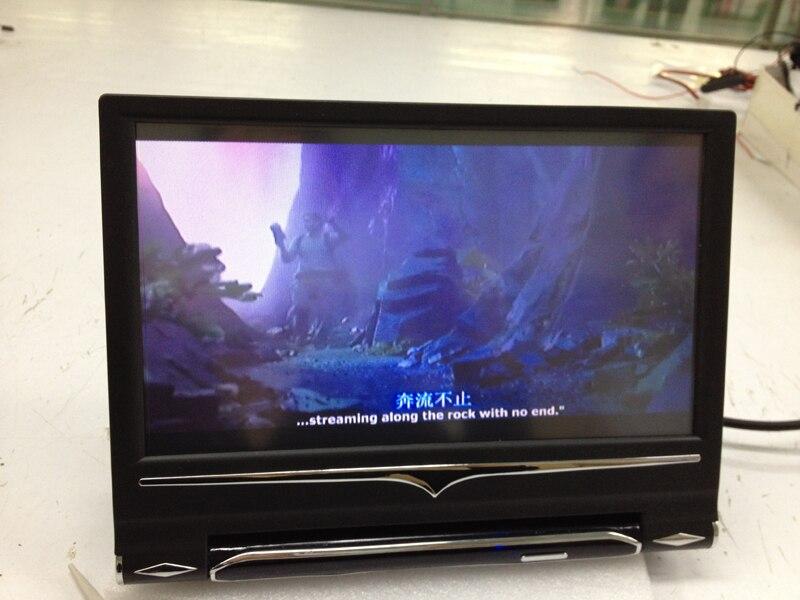 9 pulgadas 16:9 Universal HD TFT Color LCD reposacabezas monitores para coche reproductor de DVD con control remoto y 2 entradas de vídeo bidireccional - 4