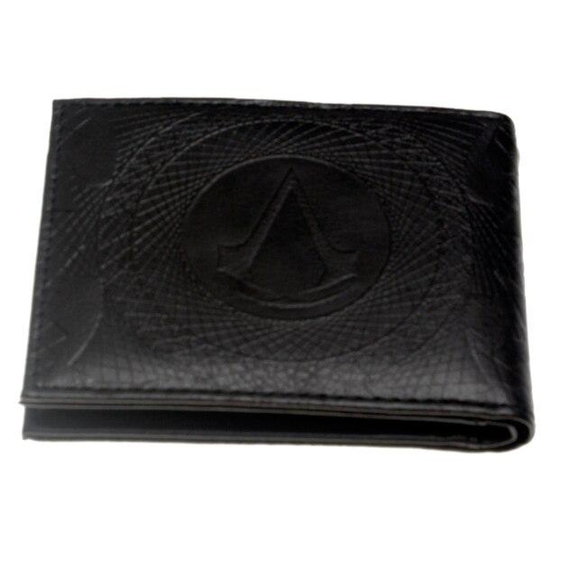 Кошелек Кредо убийцы Assassins Creed черный с эмблемой 1