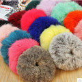 1 Pc Genuine Rabbit Fur Hair Band Women Accessory flurry headband hair rings hair ties holder elastic para el pelo