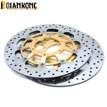 цена на CNC Motorcycle Front Floating Brake Disc Rotor & Rear Brake Disc Rotor For Honda CBR600 cbr 600 2007 2008 2009 2010 2011-2013