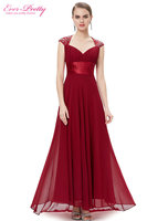 Free Shipping 09672 V Neck Back Hollow Out Empire Line Chiffon Sexy Long Evening Dresses Celebrity