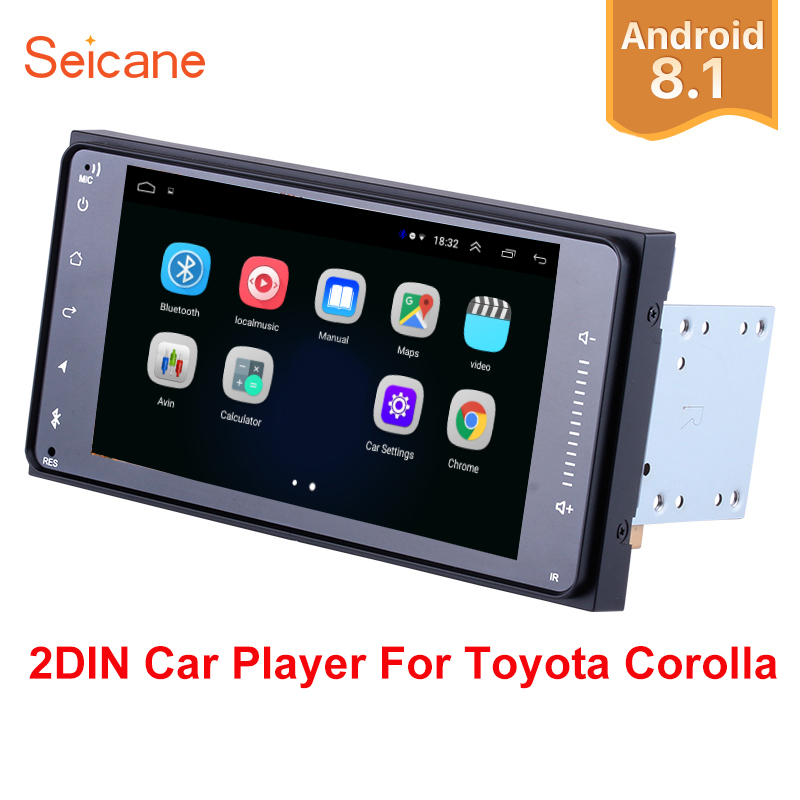 Seicane Android 8.1 7 2Din RAM 2GB for Universal TOYOTA COROLLA Camry Land Cruiser HILUX PRADO Car Radio GPS Navi Unit Player