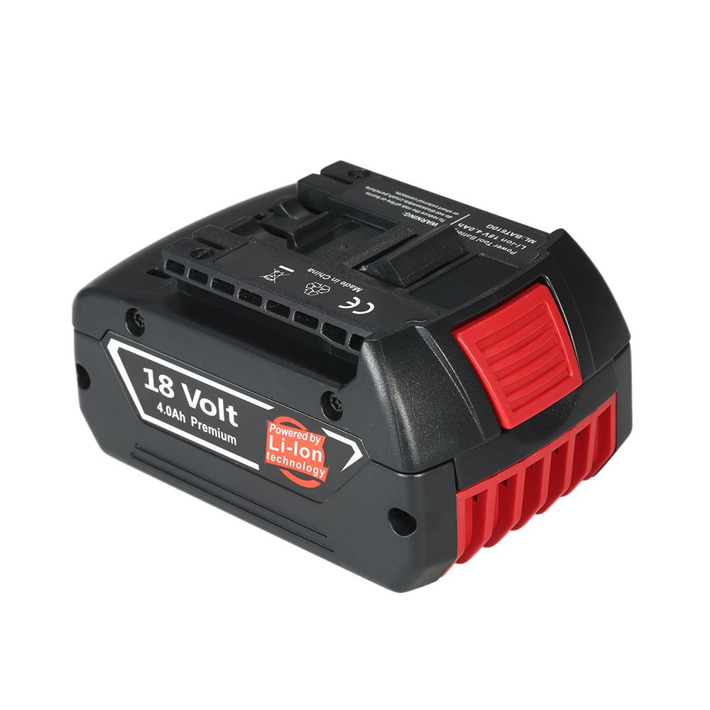 18V 4000mAh Replacement Lithium-ion Battery electric screwdriver Li-ion Battery for Bosch Power Tools electric cordless drill spare 2600mah 36v lithium ion rechargeable power tool battery replacement for bosch d 70771 bat810 2 607 336 107 bat836 bat840