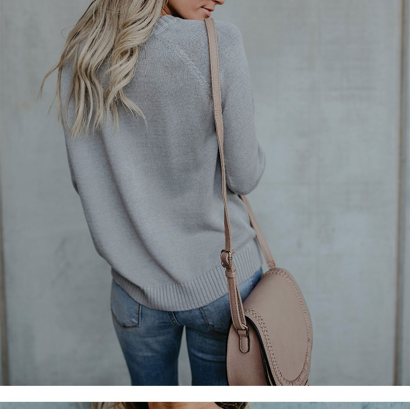 18 new winter white knitted sweater Women lantern sleeve loose gray pullover female Soft warm autumn casual love heart jumper 7