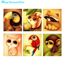 Cartoon Animal Diamond Painting Squirrel monkey Parrot cat Round Partial Drill 5D Nouveaute DIY Mosaic Embroidery Cross Stitch