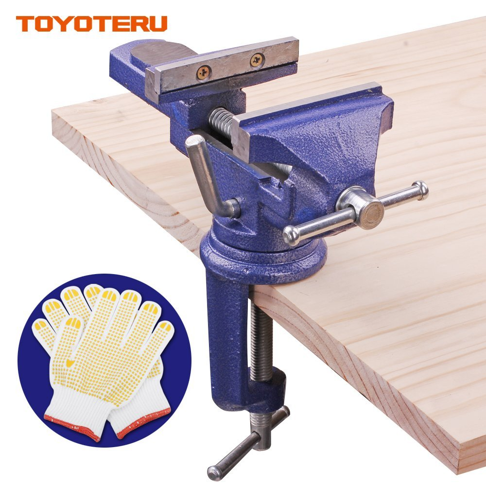 75mm opening High quality mini vise bench clamp carpentry clamps Table vice universal table clamp tool with Gloves g 35mm aluminum miniature small jewelers hobby clamp on table bench vise tool vice top quality t tools knife dremel